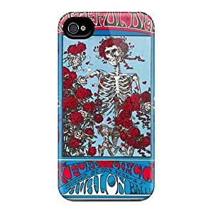 Bumper Hard Phone Case For Iphone 4/4s (IIS6779nLDi) Allow Personal Design High Resolution Grateful Dead Band Pattern