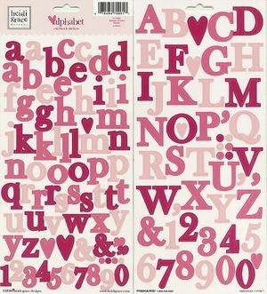 Heidi Grace Designs - Heidi Grace Designs Alphabet Cardstock Stickers - Garden