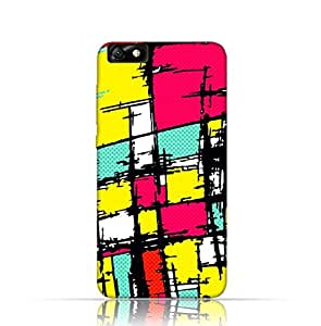 Huawei Honor 4X TPU Silicone Case with Psychedelic colored graffiti pattern Design.