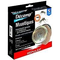 Décamp - Espirales antimosquitos con plato para cenizas