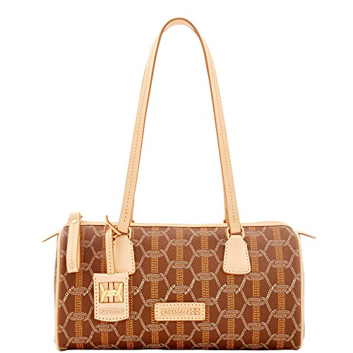 (Crosslace Barrel Bag - Brown)