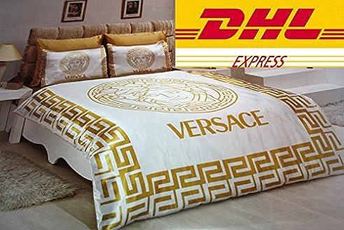 versace bettw sche weiss gold my blog. Black Bedroom Furniture Sets. Home Design Ideas