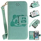 iPhone SE 5S Case, Solid Color 3D Cute Panda Embossed PU Leather Case - Best Reviews Guide