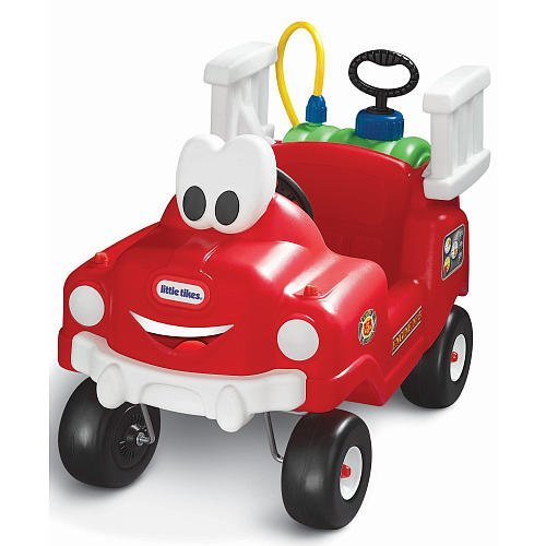 - Little Tikes Spray & Rescue Fire Truck Riding Toy