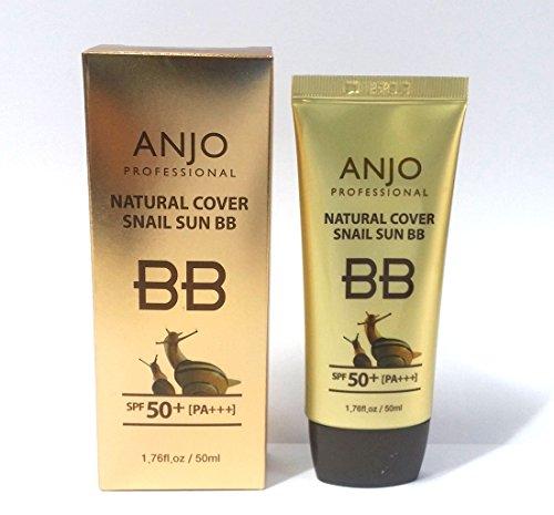 代表団静脈海洋[ANJO] ナチュラルカバーカタツムリサンBBクリームSPF 50 + PA +++ 50ml X 1EA /メイクアップベース/カタツムリ粘液 / Natural Cover Snail Sun BB Cream SPF 50+PA+++ 50ml X 1EA / Makeup Base / Snail Mucus / 韓国化粧品 / Korean Cosmetics [並行輸入品]