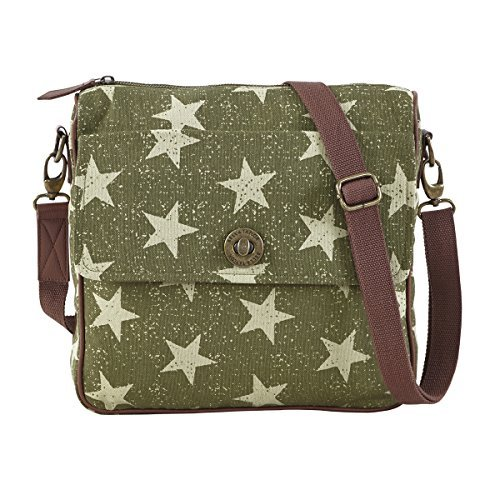 bella-taylor-canvas-cotton-vintage-olive-green-white-five-point-star-olive-journey-crossbody-with-sl