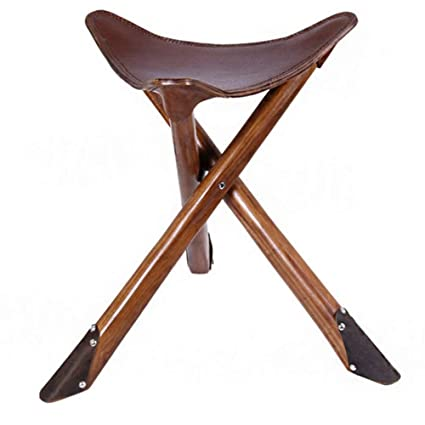 Stupendous Amazon Com Stool Portable Leather Folding Stool Solid Wood Unemploymentrelief Wooden Chair Designs For Living Room Unemploymentrelieforg