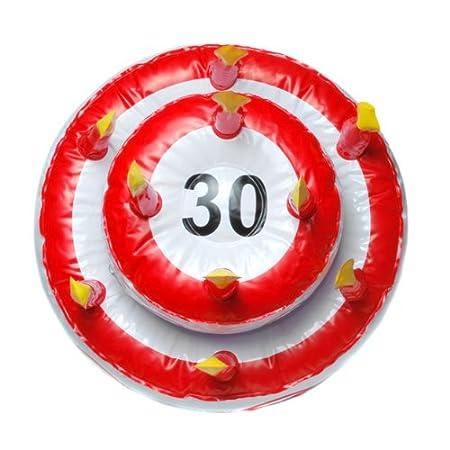 Hinchable tarta de cumpleaños para varios redondo número ...
