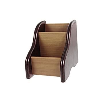 Amazon Wooden Pen Business Card Container Holder Maroon Brown