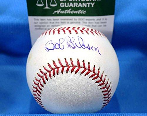 Bob Gibson Autograph (BOB GIBSON SGC COA Hand Signed Major League Autograph Baseball)