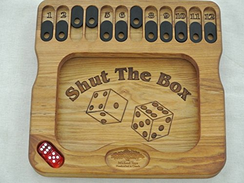 Shut the Box Handmade Wooden Board Game for 1-12 Players. 12
