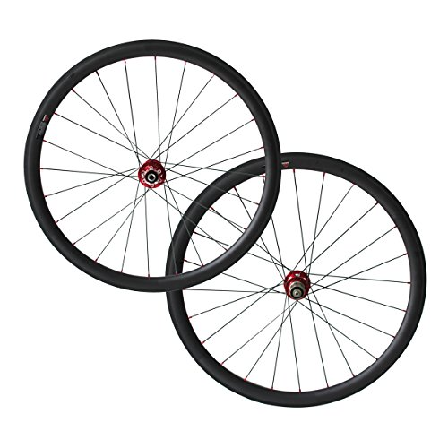 700C 6 Bolt Disc Brake hub 38mm Clincher Carbon Road Bicycle Wheels Cyclocross wheelset (25) ()