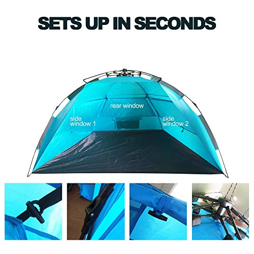 Half Beach Tent Amp One Touch Push Up Easy Setup Beach