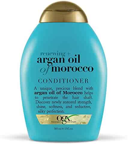 OGX Renewing Argan Oil of Morocco Conditioner, (1) 13 Ounce Bottle, Paraben Free, Sulfate Free, Sustainable Ingredients, Strengthens, Softens, Smooths and Adds Shine