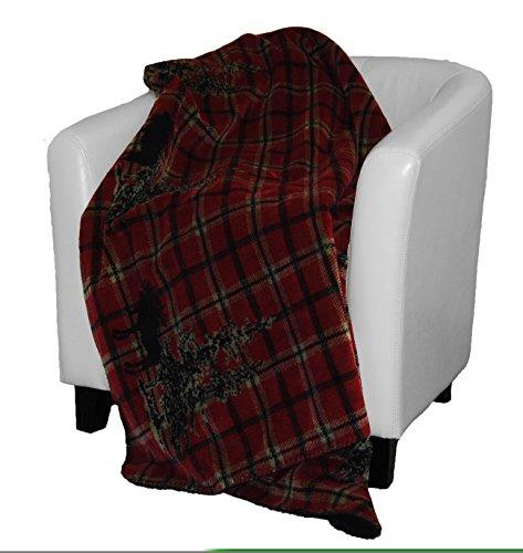 Moose Plaid Throw By Denali 60x70 (Denali Throw Blankets)