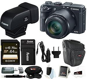 Canon PowerShot G3 X 20.2 Megapixel Digital Camera with 64GB Accessory Bundle