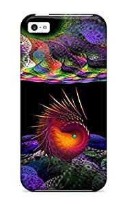 LJF phone case Top Quality Case Cover For ipod touch 4 Case With Nice Fractal Creature Appearance
