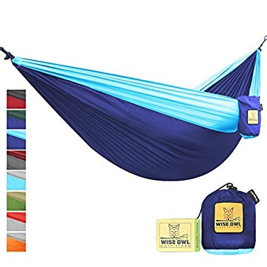 The Ultimate Single & Double Camping Hammocks- The Best Quality Camp Gear For Backpacking Camping Survival & Travel- Portable Lightweight Parachute Nylon Ropes and Carabiners Included! SONBLB