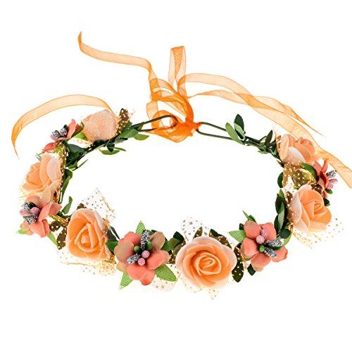 June Bloomy Rose Floral Crown Wreath Girls Flower