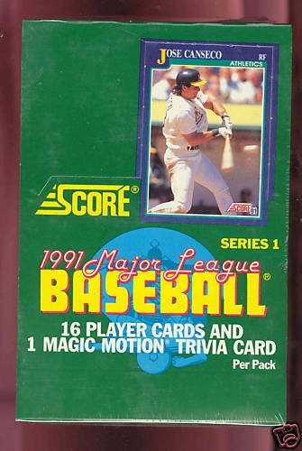 1991 Score Baseball card Wax Pack Box FACTORY SEALED Series 1 One (Topps Basketball Series)