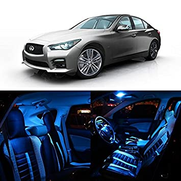 Superb Partsam 2014 2015 Infiniti Q50 Ice Blue Interior LED Package Kit + Tag  Lights (10