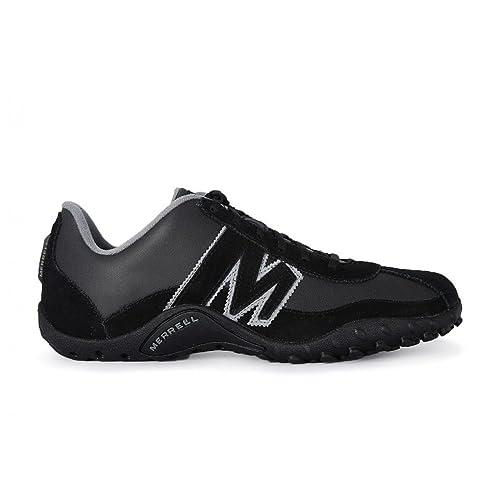 Merrell - Zapatillas de Piel para Hombre Negro Negro: Amazon.es: Zapatos y complementos