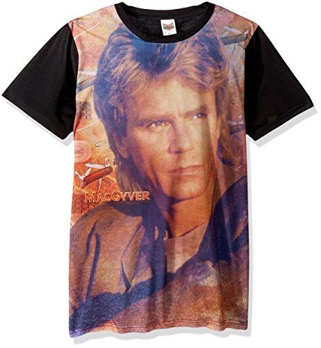 - Trevco Men's MacGyver Sublimated T-Shirt, White Large