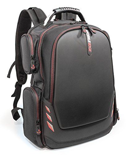 Mobile Edge - Core Gaming Backpack with Molded Front Panel 17''-18'' - Black with Red Trim (MECGBP1) by Mobile Edge (Image #1)