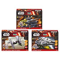 Revell - Pack 3 Star Wars Vaisseau, S27429090, Obscure, 19 cm