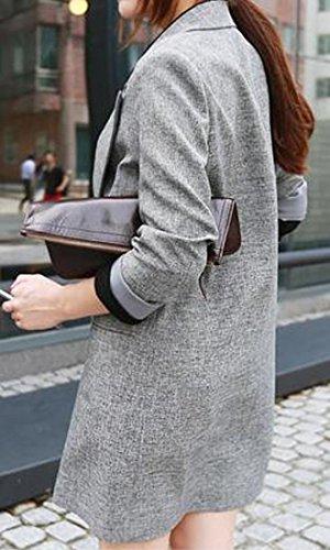 Pivaconis Womens Lapel Long Sleeve Casual Long Blazer Suit Jacket Coat Outwear