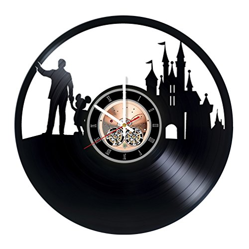 The Walt Disney Vinyl Record Wall Clock - Kids Room wall decor - Gift ideas for children, baby, brother and sister - Funny Cartoon Unique Art Design by choma
