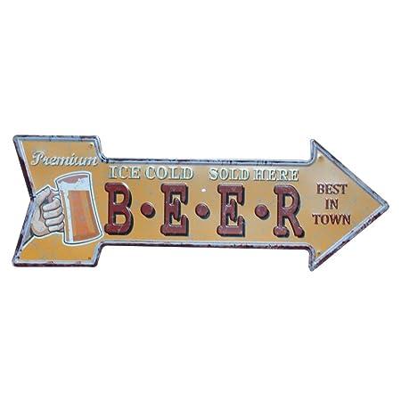 Shuda 1Pcs Flecha Cartel para Puerta Placa Vintage Póster Bar Tienda Cafetería Restaurante Centro Comercial Decoración Black Friday Juguetes 1Pcs ...