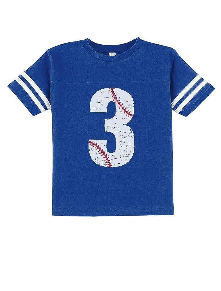 380c1457 Amazon.com: TeeStars - Baseball 3rd Birthday Gift for Three Year Old  Toddler Jersey T-Shirt: Clothing