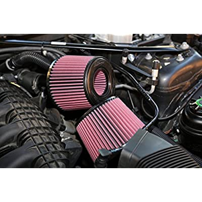 BMS Dual Cone Performance Intake for N54 BMW 135 335 535 Z4 (RED FILTERS): Automotive