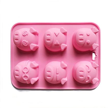 Amazoncom 3d Pig Cake Mold Silicone Chocolate Mould Zodiac