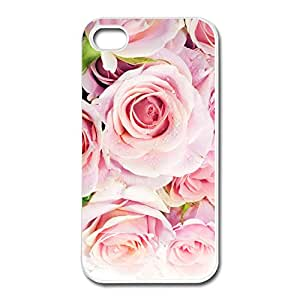 New Arrival Pink Roses Case Cover For Apple IPhone 4 4s Design Your Own Geek IPhone 4 Cover