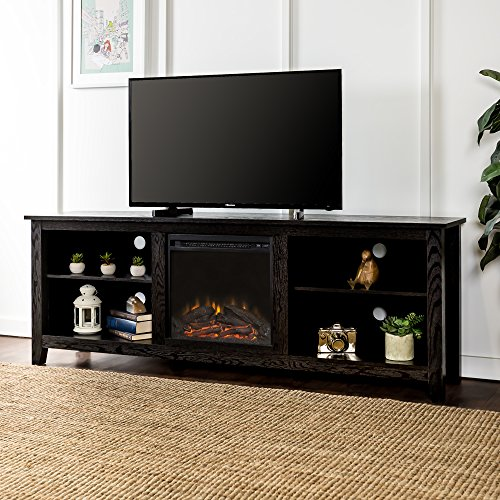 tv fireplace black - 2