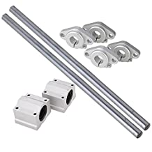 CNBTR Vertical 12mm Dia Linear Motion Ball Bearing Slide Bushing &300mm Linear Shaft Optical Axis with Rod Rail Support Set