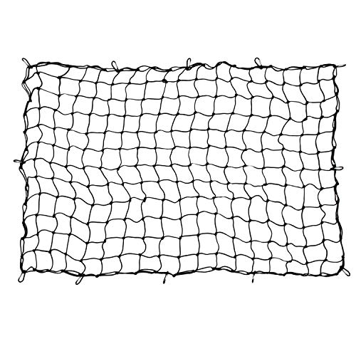 Houseables Bungee Net, Truck Bed Cover, 5mm Thick, 4' x 6', Elastic, Mesh Spider Netting, Heavy Duty, Pickup Accessories, Storage Organizer Tarp, for Car Trunk, Trailer, Pick Up, Roof Rack with Hooks by Houseables