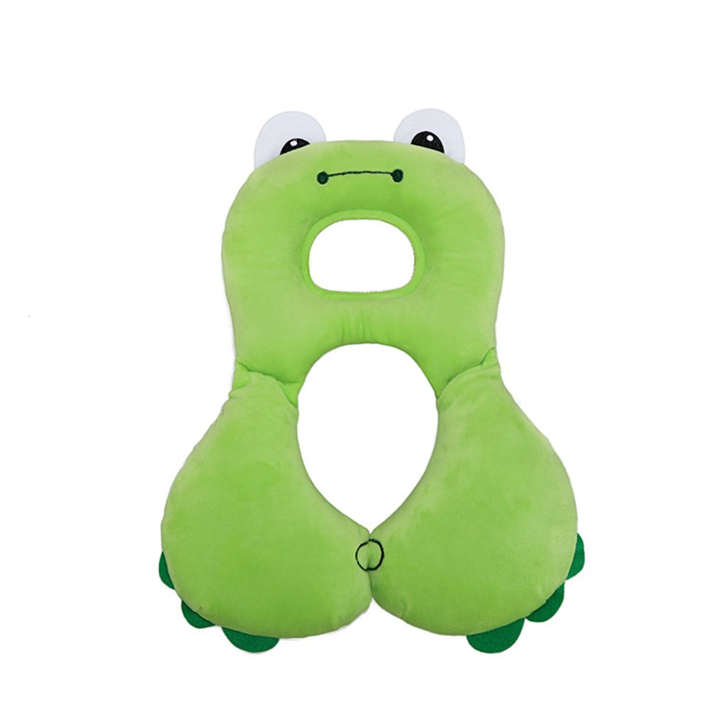 Inchant Baby Headrest & Neck Support Pillow, Infant Comfortable Stroller Head Support Travel Car seat Pillow (Green Frog) E-Thriving