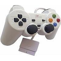 Controle com Fio para PS2 Feir - Branco - FR-206