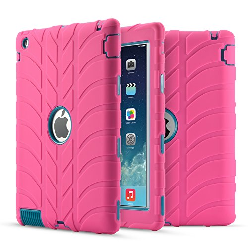 iPad 4 Case,iPad 3 Case,iPad 2 Case, UZER Tire Pattern Shock