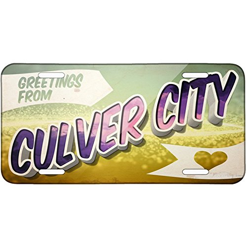 Personalized Metal License Plate With Greetings From Culver City - Custom Auto Car Tag 12