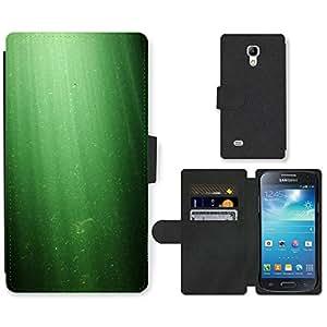 PU LEATHER case coque housse smartphone Flip bag Cover protection // M00150437 Verde Luz subacuática dom Rayas // Samsung Galaxy S4 Mini i9190