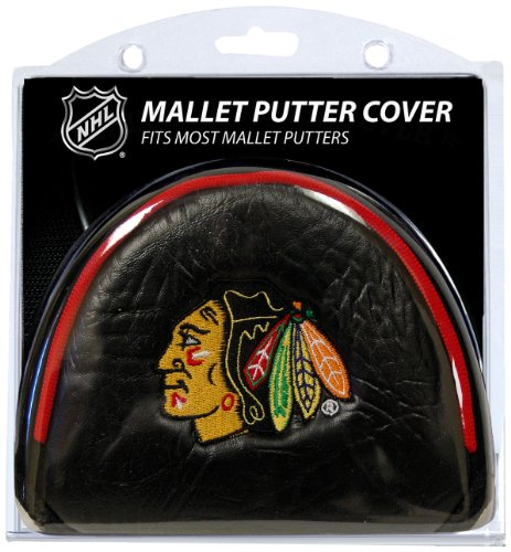 Team Golf NHL Chicago Blackhawks Golf Club Mallet Putter Headcover, Fits Most Mallet Putters, Scotty Cameron, Daddy Long Legs, Taylormade, Odyssey, Titleist, Ping, Callaway