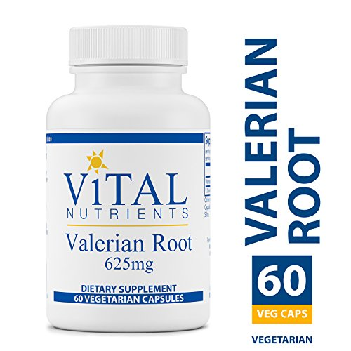 Vital Nutrients - Valerian Root 625 mg - Natural Support for Relaxation and Restful Nights - Sleep Aid - 60 Capsules per Bottle ()