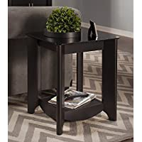 Bush Myspace Aero End Tables in Classic Black Finish (Set Of 2)