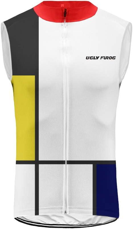 BurningBikewear Uglyfrog Deportes Ropa Ciclismo Maillot Sin Manga Camiseta Verano de Ciclistas Hombre Cycling Sleeveless MES2019MJ02
