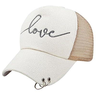 Clearance! Women Men Couple Fashion Love Letter Baseball Cap Mesh Snapback Hip Hop Flat Hat by Challyhope