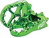 Flo Motorsports 2.0 Pro Series Foot Pegs Green For Kawasaki KX250/450F FPEG-792G